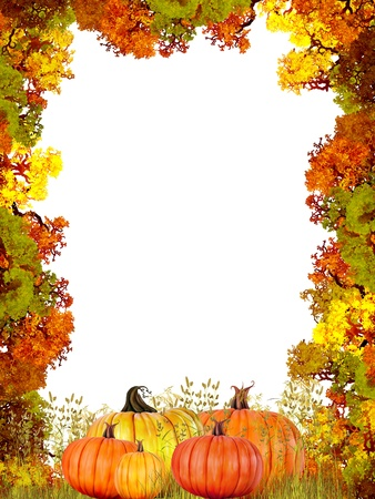 indian thanksgiving: Autumn Frame