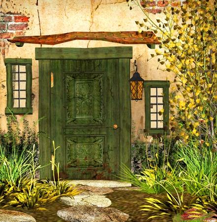 cottage garden: Cottage Door