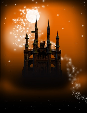 Fairy Tale Castle Zdjęcie Seryjne