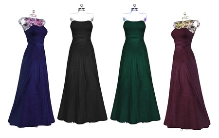 evening gowns: Illustration of evening dresses Stock Photo