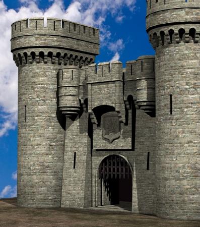 portcullis: Old Castle Entrance Stock Photo