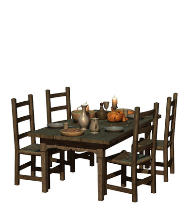 well laid: isolated illustration of a set table