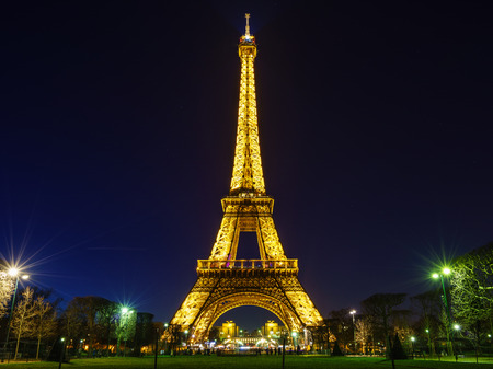 paris at night: Eiffel Tower