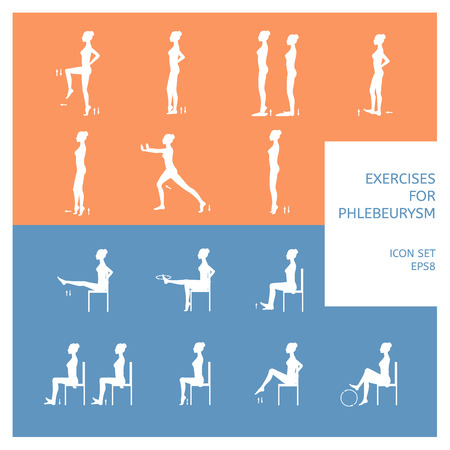 A set of exercises for patients phlebeurysm