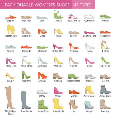 women's shoes: Collection of summer, autumn and winter shoes. Set of fashionable womens shoes.