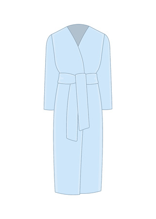 Womens coat with a belt. Cashmere and wool. Trendy model of womens wardrobe. Vector illustration Illustration