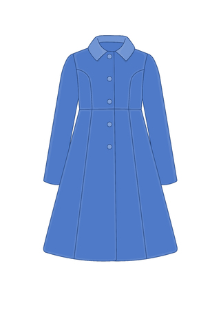 Womens coat robe; Cashmere and wool; Trendy model of womens wardrobe.