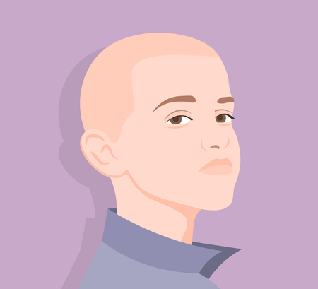 Pride. Portrait of a boy. Avatar of the guy. The face of a young man. Vector illustration