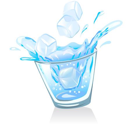 水と氷とガラス。ベクトル イラスト
