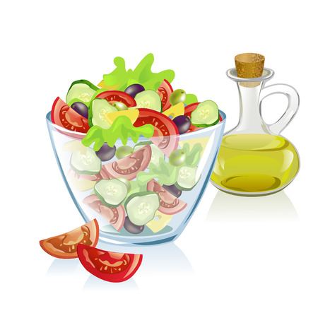salad: healthy nutrition. vector illustration