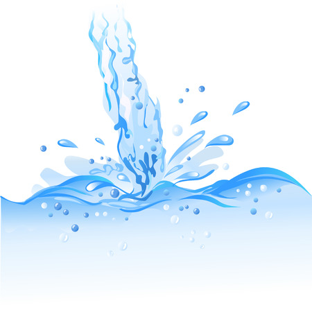 stream  wave: stream water isolated. vector illustration Illustration