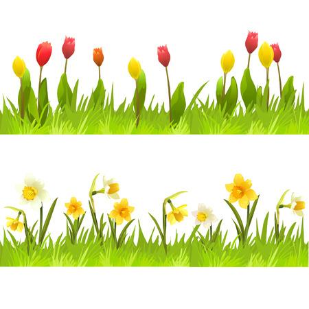 De banners van de lente bloemen.