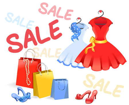 selling womens clothing.  Vector
