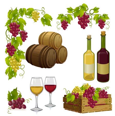 ingesteld voor het wijnmaken. Stock Illustratie