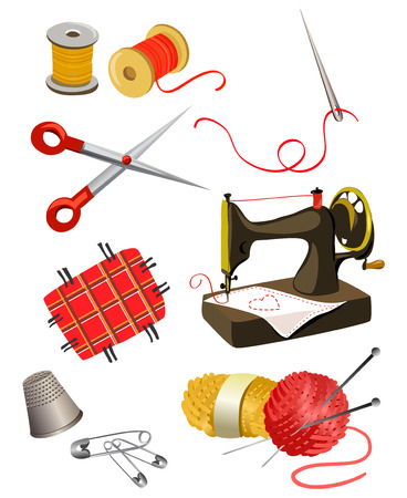 set of elements for needlework.