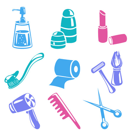 personal care: icons personal care isolated. vector illustration