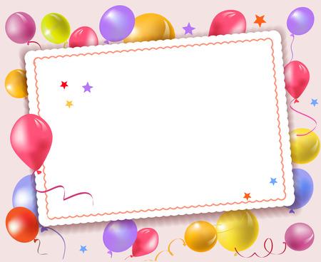 Holiday kaart met ballonnen. vector illustratie