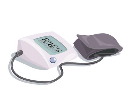 medizinische Ausrüstung. Blutdruckgerät, isoliert. Vektor-Illustration Illustration