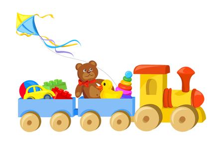 Spielzeugzug mit Spielzeug Illustration
