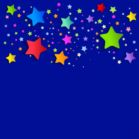 A background with bright stars. vector illustration Illustration
