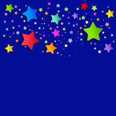 Ein Hintergrund mit hellen Sternen. Vektor-Illustration