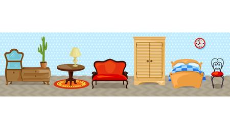 furniture for the home. vector illustration Illustration