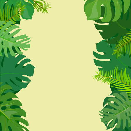 Tropical plant background. vector illustration