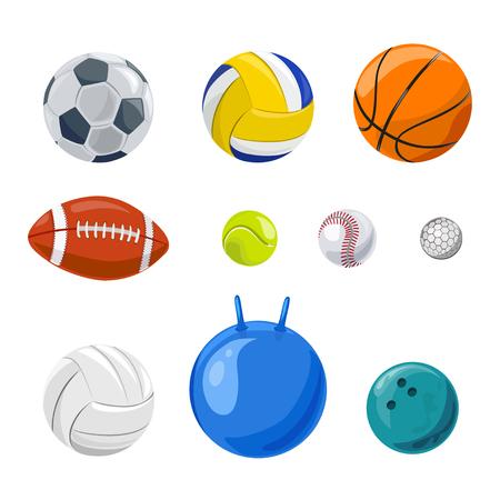 Satz von Sportbällen isoliert. Vektor-Illustration Illustration