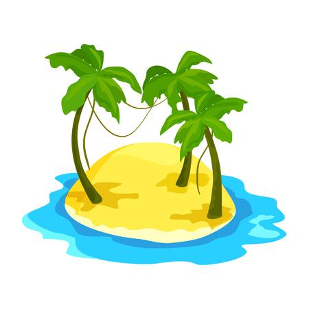 Tropische Insel mit Palmen. Vektor-Illustration