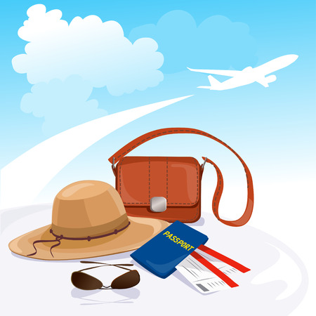 travel, departure, waiting. vector illustration