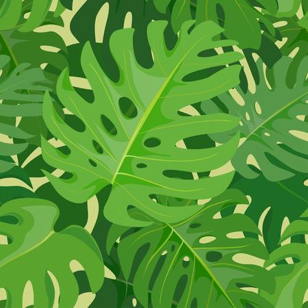 Tropische nahtlose Hintergrund. Monstera Blätter. Vektor-Illustration