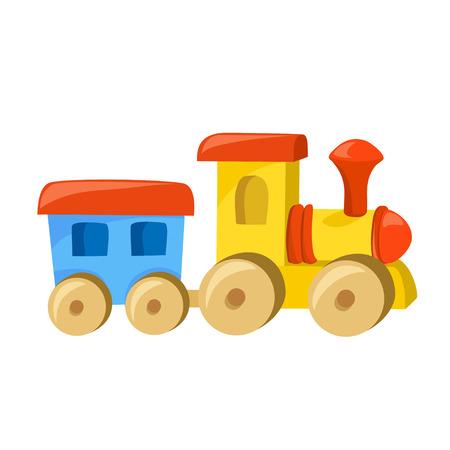 Spielzeug Zug mit dem Wagen isolated.vektor Illustration