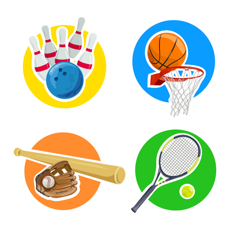 sports, badges, isolated. vector illustration Illustration