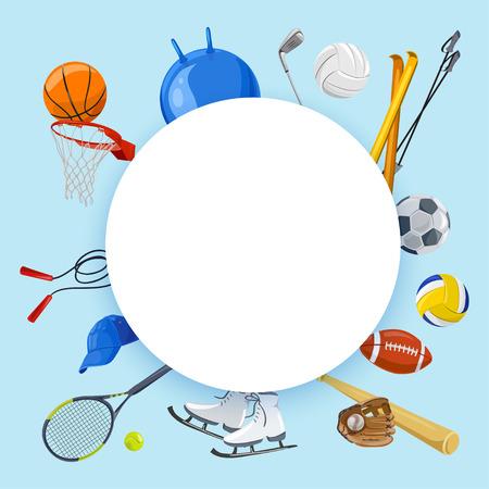 Sportlicher Hintergrund . Gemischte Sport . Vektor-Illustration Standard-Bild - 94820521
