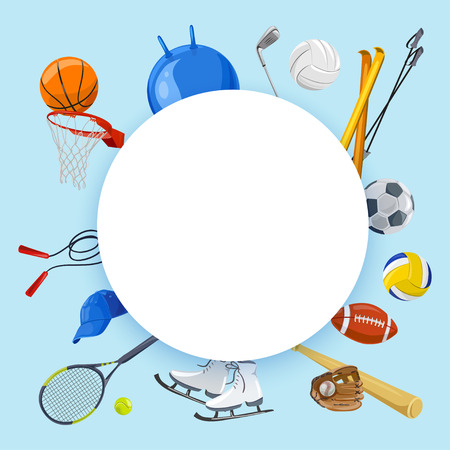 Sporty background. various sports. vector illustration Illustration