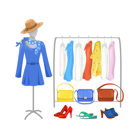 Mode Bekleidungsgeschäft . Vektor-Illustration Standard-Bild - 94815175
