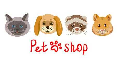 Icon Shop für Haustiere . Vektor-Illustration Standard-Bild - 94815178