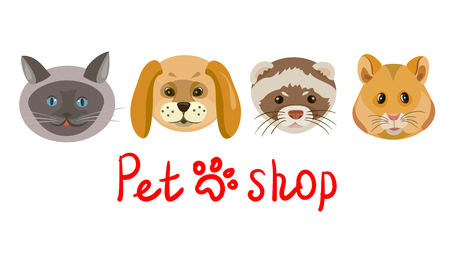Icon shop for pets. vector illustration