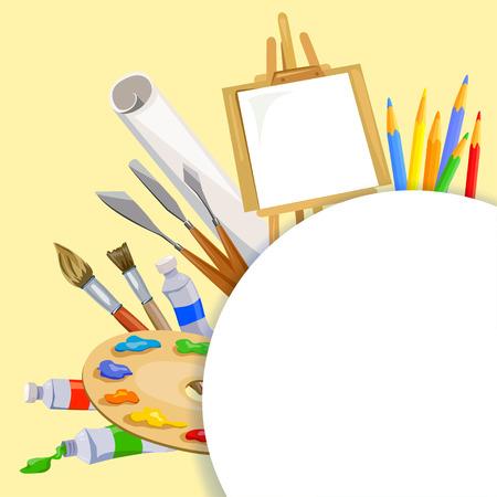 Tools artist background. vector illustration Standard-Bild - 94815316