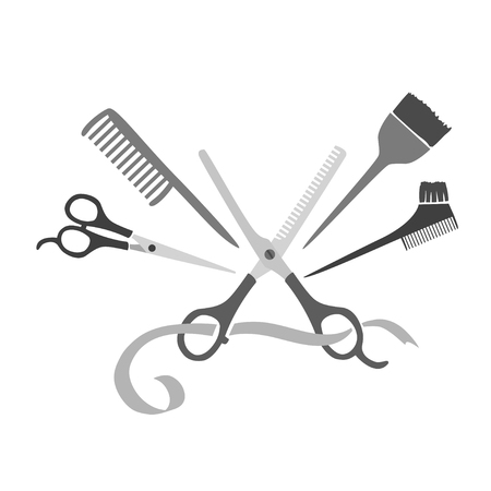 Hairdresser, logo. vectro illustration