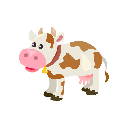 Cute cartoon cow, isolated. vector illustration Standard-Bild - 94815327