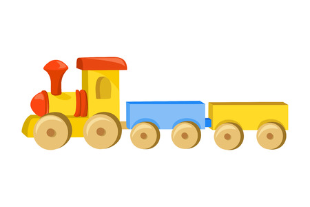 toy train with trailers. vector illustration