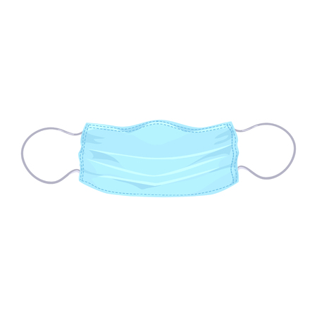medical mask isolated. vector illustration