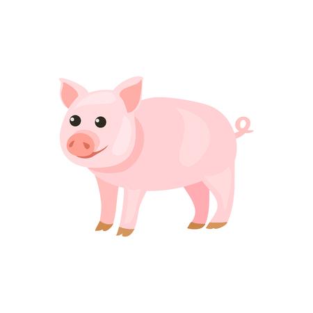 pig cartoon isolated. vector illustration Standard-Bild - 134680215