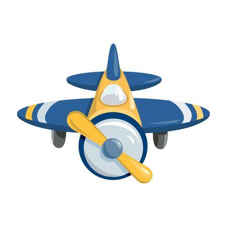 illustration of an airplane. propeller plane. vector illustration