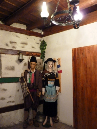 Old French and Bulgarian traditional costumes