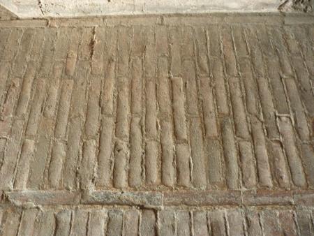 etruscan: Etruscan wall tiles, Rocca Paolina, Perugia