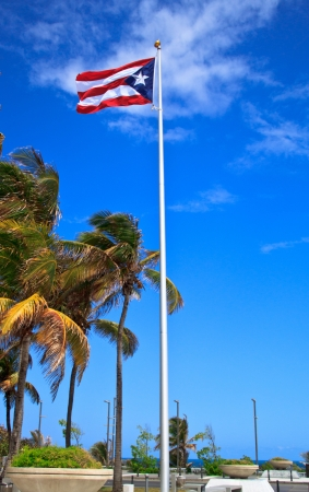 Flag of Puerto Rico in San Juan photo
