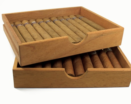 Cigars are in a box photo