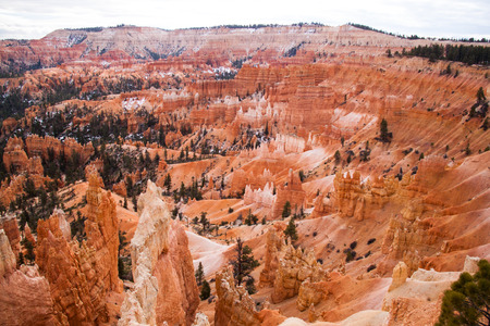 Bryce Canyon National Park in winter, Utah photo